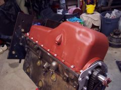 Oil pan back on...