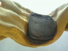 leather glove as heat sheild
