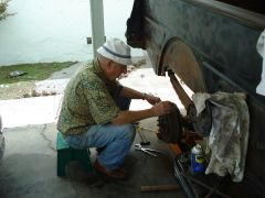 Glenn Pearce Meditates on a Rear Brake Drum