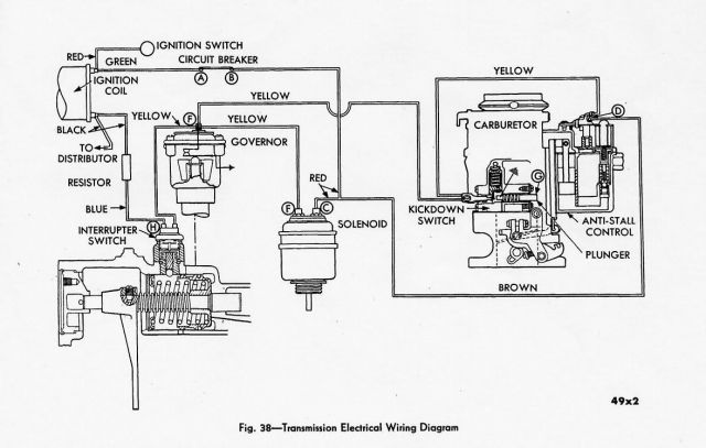 m6 gyromatic or tip toe transmission 0123 mopar warner borg warner and others overdrive