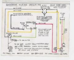 52 56 borg warner R10 Plymouth Overdrive wiring schematic