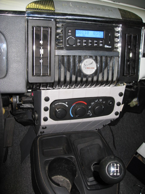 stereo, htr/AC console and center console