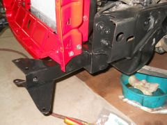 Front frame to bumper brackets