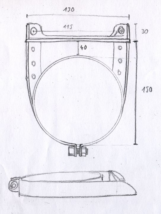 oil filter canister clamp construction drawing