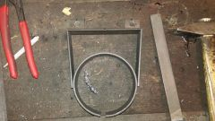 building the oil filter canister mounting clamp 2