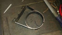 building the oil filter canister mounting clamp 3