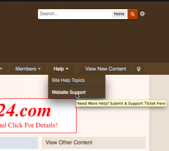 Need help with the site? How to create a support ticket...