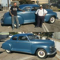 Stella, my 1947 Plymouth P15 - Skratch and I in Burbank