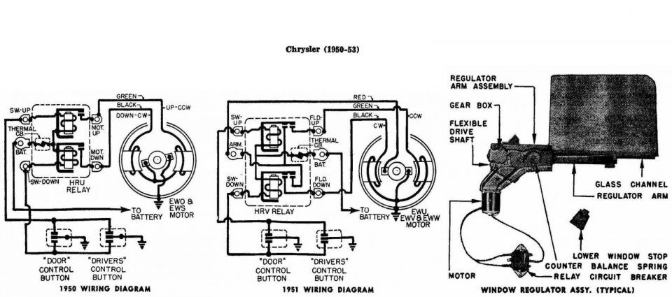 Window Regulator Wiring Diagram Chrysler 1950 2