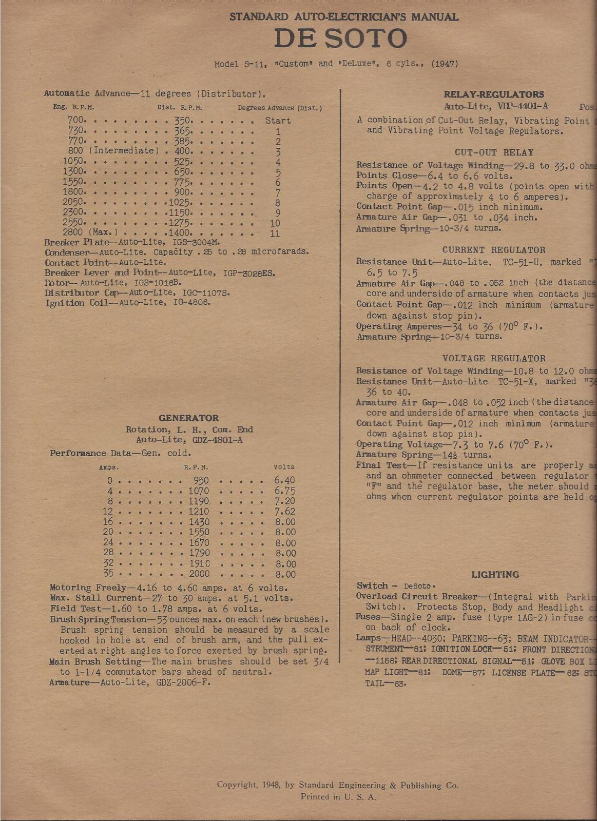 1948 Plymouth Distributor 1942 1946 1947 Car Color Wiring Diagram To Plugs Forum And Pilot House Com 1163x1600