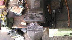 cleaning rear spring mounts for rewelding