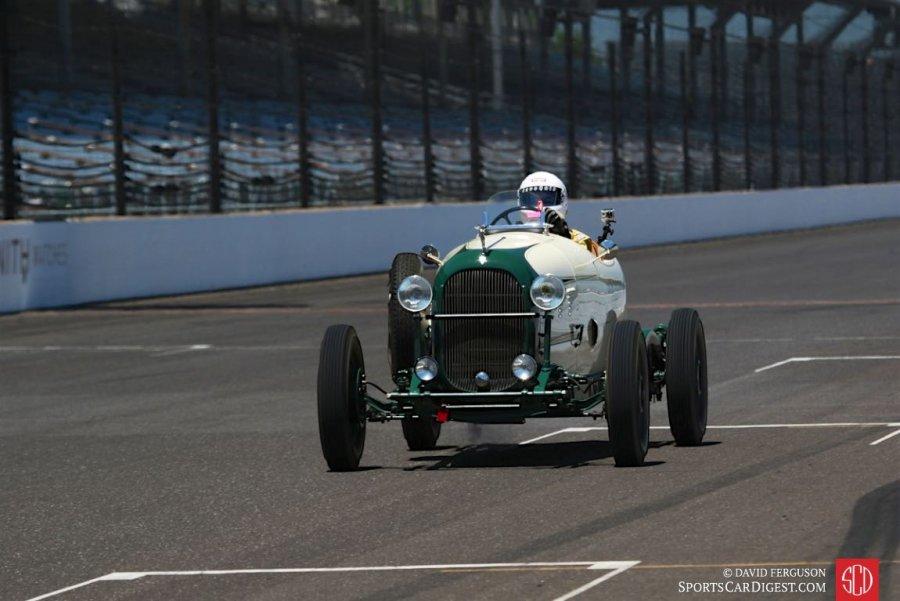SVRA Indy Brickyard Invitational 2016 Lester Neidell 1933 Plymouth Indy Car.jpg