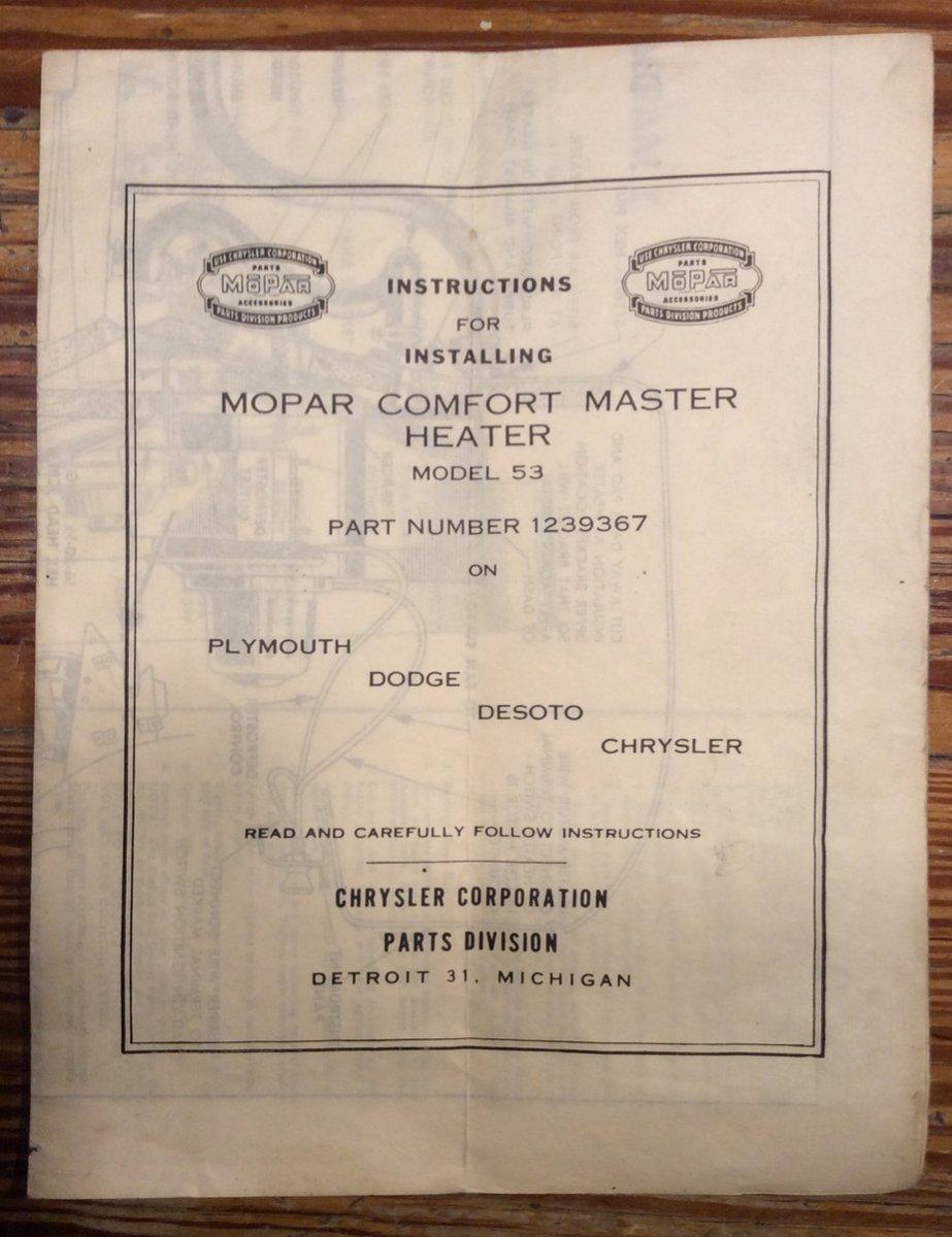 Comfort Master Heater Document