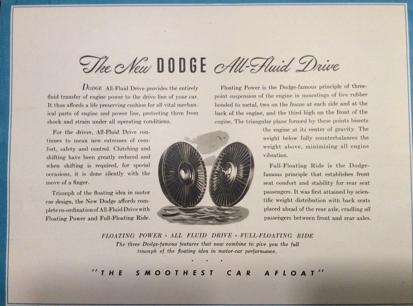 Dealer Brochure Fluid Drive Description