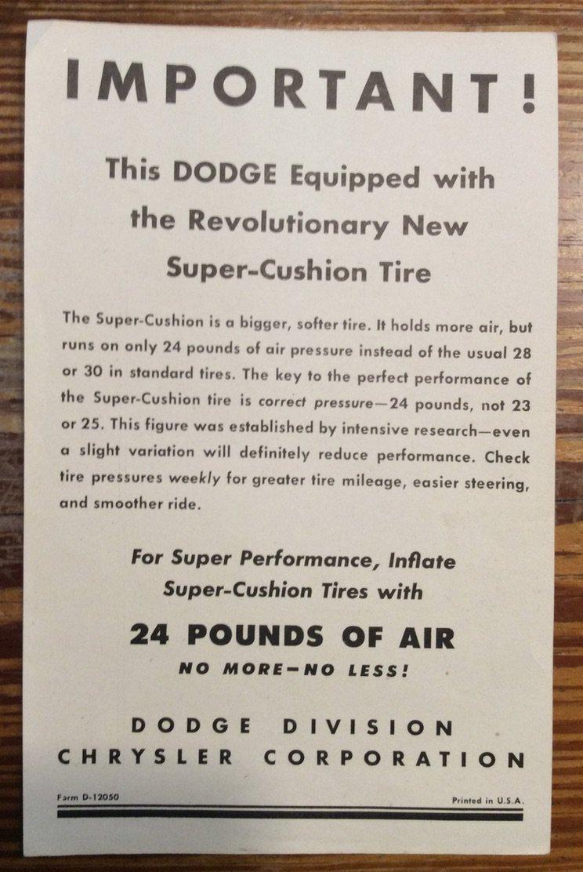 Tire Notice