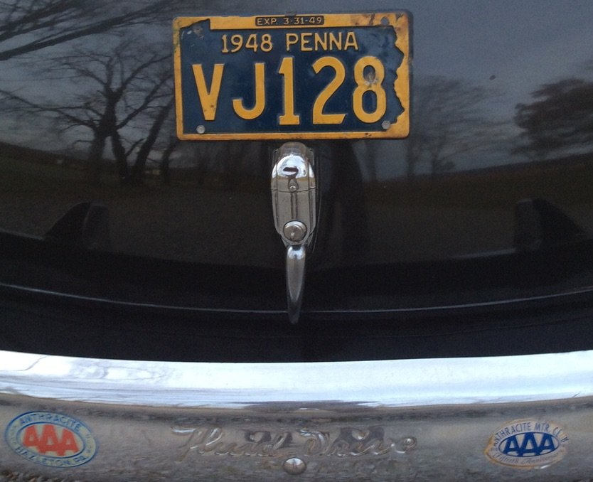 Original plate & AAA stickers