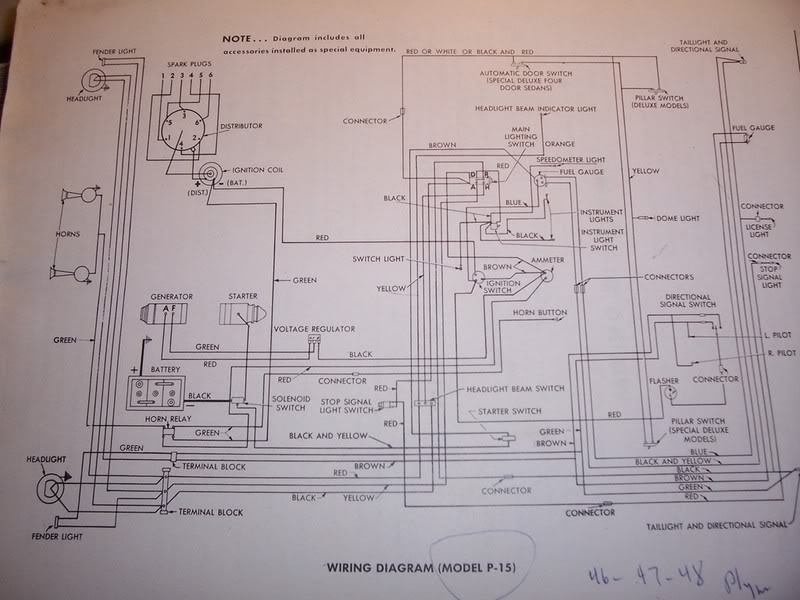 12 volt conversion wiring diagram 1951 plymouth help with battery and 6 volt positive grounding p15 d24 forum  battery and 6 volt positive grounding